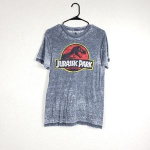 Jurassic park burn out tee size small